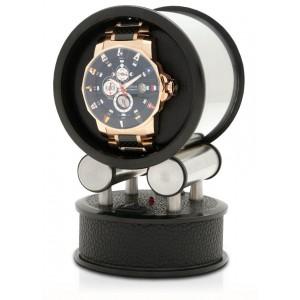 Orbita Voyager Programmable Travel Single Watch Winder in Black Leatherette
