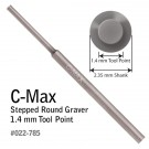 GRS 022-785 C-Max Carbide Round Step Graver 1.4MM