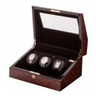 Orbita Siena - 3 Watch Winder - Burlwood (ROTORWIND®)