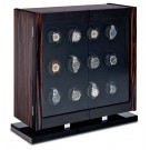 Orbita Avanti - 12 Rotorwind Watch Winder- Macassar/Carbon Fiber