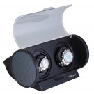 "Diplomat ""Economy"" Double Watch Winder in Black & Carbon Fiber"