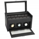 "Diplomat ""Modena"" 3-Watch Winder in Carbon Fiber"