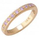 14k Yellow Gold Amethyst Toe Ring