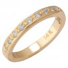 14k Yellow Gold Aquamarine Toe Ring