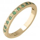 14k Yellow Gold Green Garnet (Tsavorite) Toe Ring