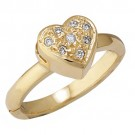 14k Yellow Gold Heart Shape Toe Ring w/ Diamond