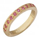 14k Yellow Gold Pink Sapphire Toe Ring