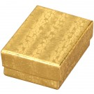 "Box of 100 Gold Cotton Filled Boxes (2 1/8"" x 1 5/8"" x 3/4"")"