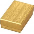 "Box of 100 Gold Cotton Filled Boxes (2 5/8"" x 1 1/2"" x 1"")"