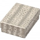 """Box of 100 Silver Cotton Filled Boxes (2 5/8"""" x 1 1/2"""" x 1"""")"""
