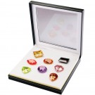 Set Of 8 Extra Large Fancy Colored Cubic Zirconia