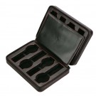 Diplomat 8 Watch Travel Case - Black Leatherette / Black Suede Interior