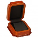 Earring & Pendant Box - Beech Wood Finish with Black Interior