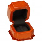 Single Ring Clip Box - Beech Wood Finish with Black Interior
