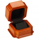 Earring / Pendant Box - Beech Wood Finish with Black Interior