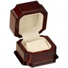 Pendant Box - Mahogany Wood Finish with Cream Interior