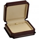 """Napa"" Large Earring or Pendant Box in Mahogany & Ivory Nabuka"