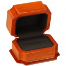 """Napa"" Double Ring Slot Box in Beech & Onyx Nabuka"