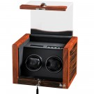 Volta Double Watch Winder - Ebony Rosewood Finish