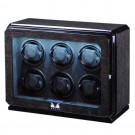 Volta Roadster 6-Watch Winder in Charcoal Ebony