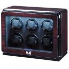 Volta Roadster 6-Watch Winder in Brazilian Rosewood