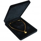 Large Necklace Box - Black Suede