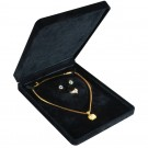 Necklace Set Box - Black Suede