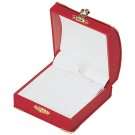 Pendant Box - Red Leatherette Finish with White Italian Interior