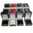 """Heirloom"" Leatherette Square Stud Earring or Pendant Box in Assorted Colors"