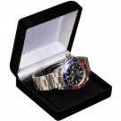 Watch Bangle Box - Black Flocked Finish with Black Interior
