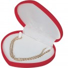 Heart Necklace Red Flocked Box