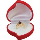 Heart Ring Red Flocked  Box