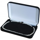 Necklace Box - Black Suede