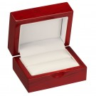 """Rodeo"" Double Ring Slot Box in Cherry & Pearl Nabuka"