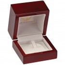 Single Ring Clip Box -Cherry Wood Grain Finish with White Interior