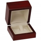 Single Ring Clip Box - Mahogany Wood Grain Finish with Cream Interior