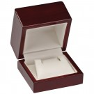 Earring Box - Cherry Wood Finish with White Interior