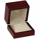 Earring Box- Mahogany Wood Grain Finsih with Cream Interior
