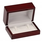 Double Ring Clip Box - Cherry Wood Grain Finish with White Interior