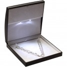 """Lumina Classica"" Large Necklace Box in Black Ostrich & Milkstone"