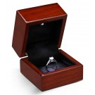 """Lumina Luxe"" Ring Clip Box in Mahogany & Obsidian"