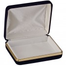 Treasure Box - Blue Velvet & Gold Trim with White Interior