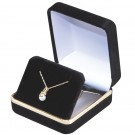 Earrings or Pendant Box  - Black Velvet  Finish with Black Interior
