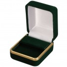 """Savannah"" Drop Earring Box in Green Velvet"