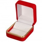 Velvet Clip Earring Box- Red/White