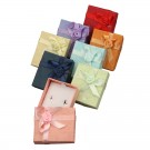 Earring Gift Boxes - Colorful Floral Bow Tie Gift Boxes