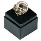 Square Carton Ring Box - Glossy Black / Black Foam