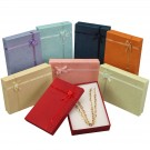 Ribbon Collection Floral Detail Necklace Box in Assorted Colors