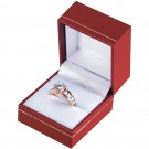 """Designer"" Ring Slot Box in Coral & Diamond (2-Pc. Packer)"