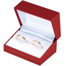 """Designer"" Double Ring Slot Box in Coral & Diamond (2-Pc. Packer)"
